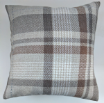 "Cushion Cover in Next Charcoal Natural Stirling Check Tartan 14"" 16"" 18"" 20"""